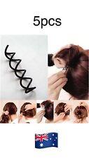 5pcs Spiral Spin Screw Pin Hair Clip Twist Barrette Tie Ponytail