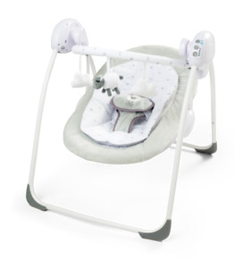 Deluxe Foldable Baby Bouncer Little Lamb First Swing Soothing Music and Toys 079