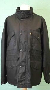 BARBOUR black sapper wax cotton jacket coat casual size XXL