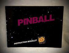 PINBALL NES Nintendo Instruction Manual Booklet - Rare Black Box Version (1985)