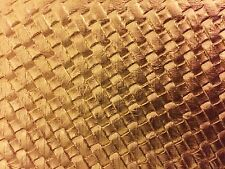 "Gold Basket Weave / Woven Upholstery Vinyl Fabric - Sold By The Yard - 54"" / 55"""