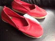 Ragazzi/Ragazze Rosso Tela importante della United Colors of Benetton UK 12 1/2 EU 31