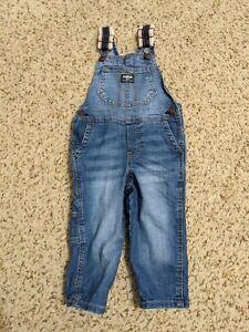 OshKosh B'Gosh Toddler Boy Blue Denim Overalls, Size 2T
