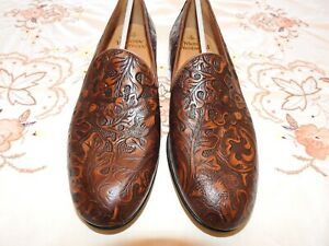 BRAND NEW MENS VIVIENNE WESTWOOD PRINT LEATHER SLIP ON SHOES EURO SIZE 41.