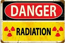 Danger Radiation rusted steel sign   450mm x 300mm  (pst)