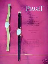 PUBLICITÉ 1960 PIAGET LA SEUL MONTRE AUTOMATIQUE ULTRA PLATE DE LUXE