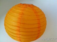 "10 Orange Chinese  Paper Lanterns 8"" For Wedding or Party"