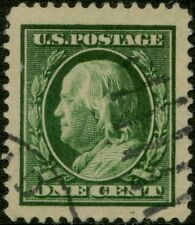 #374 1910 1¢ GREEN USED WITH PSE CERT BP5150