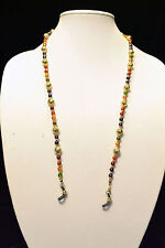 """UNBRANDED - MULTI-COLOR ACRYLIC ROUND BEAD EYE GLASSES NECKLACE - 30"""""""