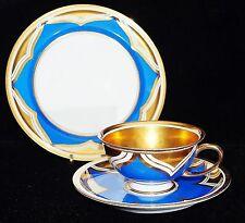 "ART Deco sammelgedeck Rosenthal, ""Winifred"", blu oro, dipinto a mano, raro"