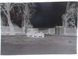 "Vintage 1930s Negative of an Unknown Four Door Car 3.25"" by 2.25"""