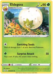 Pokemon TCG Shining Fates Eldegoss 015/072 Card - Uncommon