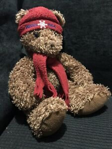 """Vintage AUTHENTIC FOSSIL 1954 Plush Toy Brown Fuzzy Teddy Bear 15"""""""