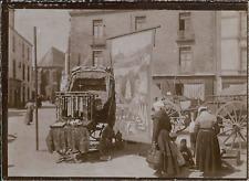 France, Kiosque d'un marchand d'objets religieux, ca.1900, Vintage cit