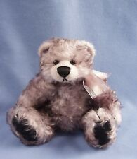 """Deb Canham'S Bigger Bears """"Lucy Lilac"""" 7 1/2"""" Light Purple Mohair Jointed Bear"""