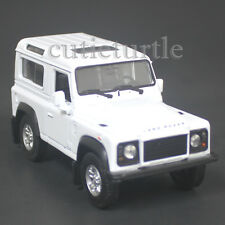 """4.25"""" Welly Land Rover Defender Diecast Toy Car White"""
