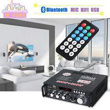 Digital Stereo Verstärker Bluetooth Power FM HiFi Audio Amplifier 12V/220V 600W