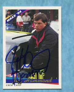 SIGNED 1994 Maxx #132 Jeff Hammond - Autographed Card NASCAR Auto
