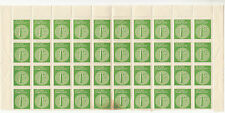 Stamps Duty Victoria 1c green block of 40 with V over crown watermark misplaced