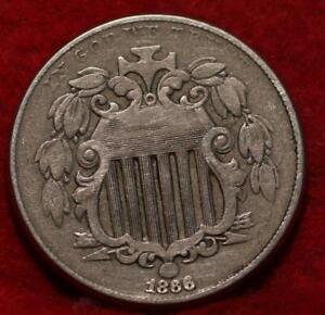1866 Philadelphia Mint Shield Nickel