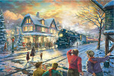 Deluxe Jigsaw Puzzle 1000 Piece Thomas & Friends Christmas Engine Train YC1273