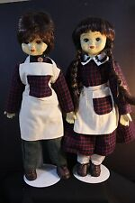 """Amish Collectable dolls - Boy & Girl 17"""" tall Porcelain Head/hands cloth Body"""