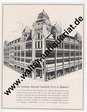 Rudolph Karstadt Kaufhaus Hannover 2 Seiten Werbeanzeige anno 1924 Reklame