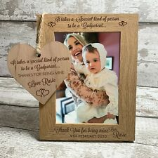 Godparent Personalised Photo Frame Engraved Christening Gift Godmother Godfather