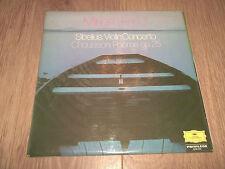 "MIRIAM FRIED "" SIBELIUS VIOLIN CONCERTO / CHAUSSON POEME OP. 25 "" DG VINYL LP EX"