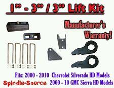 "2000 - 2010 CHEVY GMC 2500 3500 HD Silverado Sierra 3"" Keys + 3"" Blocks + Extend"