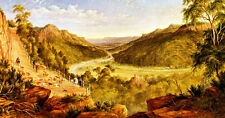 Burragorang Valley near Picton A1 by JH Carse High Quality Canvas Print