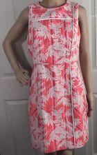J CREW Womens Dress Sun Tropical Spring Summer Sheath Size 8 10 Pink Open Back