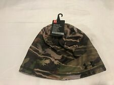 NWT $34.99 Under Armour CG Reversible Fleece 2.0 Beanie Hat RR Forest One Size