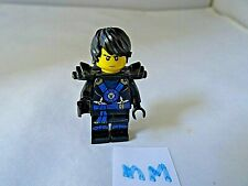 LEGO  FIGURE BLACK AND BLUE LEGS AND TORSO WITH BLACK HAIR (MM)