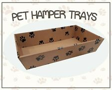 10 x Medium Cardboard Hamper Trays Pet Gift Baskets Dog Cat Rabbit Christmas