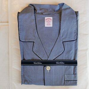 Brooks Brothers Men's Micro Check Cotton Broadcloth Pyjamas XXL