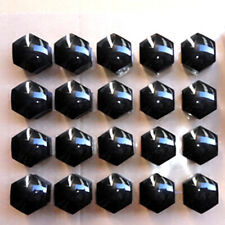 Universal Car Auto Hub Screw Cover Car Wheel Lug Nut Caps Bolt Rims Set Black