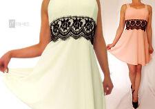 Festliche Damenkleider mit U-Ausschnitt aus Synthetik
