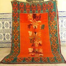 "Old Moroccan Rug Azilal Handmade Vintage Rug Berber kilim Wool Rug  6'2"" x 3'"