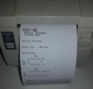 TEC Toshiba POS Retail Receipt Printer, TRST56, 80x80mm Paper - Working - USED