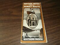 SEPTEMBER 1923 SOUTHERN PACIFIC WAYSIDE NOTES ON SUNSET ROUTE GUIDE BOOKLET