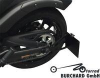 Seitlicher Kennzeichenhalter schwarz matt Kawasaki Vulcan S TÜV Teilegutachten