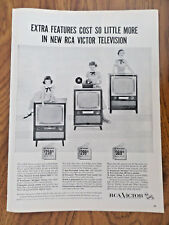 1955 RCA Victor TV Television Ad  Exptra Features Cost so Little More