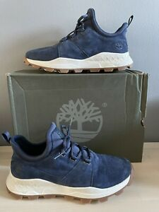 TIMBERLAND Brooklyn Oxford Navy Suede Trainers Sneakers Shoes size UK 8.5