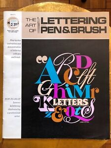 Art of Lettering Pen & Brush Larry Ottino VINTAGE Calligraphy Instruction Book