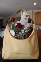 Henry cuir Large yellow leather hobo purse BAG PURSE (PU140