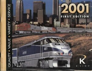 catalogo K-LINE 2001 First Edition USA O Gauge                E       cc