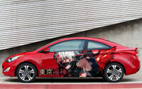 Tokyo Ghoul Anime Car Side Wrap Color Vinyl Sticker Decal Fit Any Car