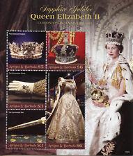 Antigua & Barbuda 2018 MNH Queen Elizabeth II Coronation Sapphire 5v M/S Stamps