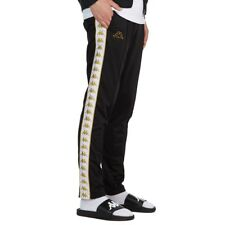 Kappa Banda Astoria 222 Mens Pants Slim Fit Size Medium Blk/Wht/Gold Authentic
